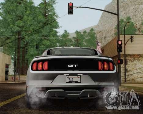 Ford Mustang GT 2015 para vista inferior GTA San Andreas