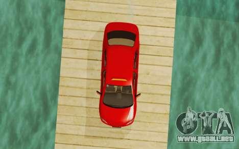 Toyota Vios Taxi Costa Rica para GTA San Andreas vista hacia atrás