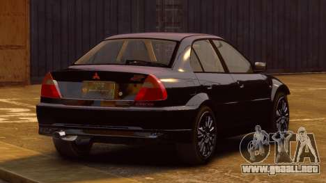 Mitsubishi Lancer Evolution VI GSR 1999 para GTA 4 left