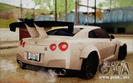 Nissan GT-R Liberty Walk para GTA San Andreas left