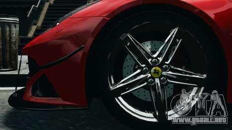Ferrari F12 Berlinetta 2013 Modified Edition EPM para GTA 4 vista hacia atrás