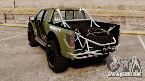 Ford F150 SVT 2011 Raptor Baja [EPM] para GTA 4 Vista posterior izquierda
