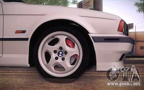 BMW E34 Alpina para GTA San Andreas vista posterior izquierda