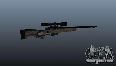 Rifle de francotirador AI Arctic Warfare policía para GTA 4 tercera pantalla