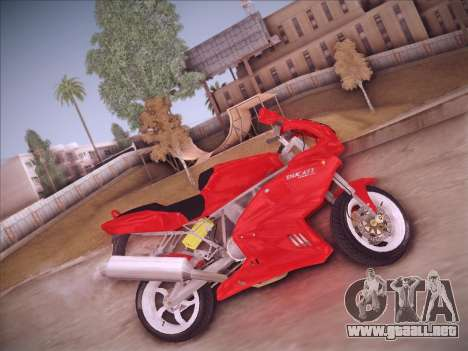 Ducati Supersport 1000 DS para GTA San Andreas vista posterior izquierda