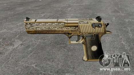 Pistola de lujo Desert Eagle para GTA 4 tercera pantalla