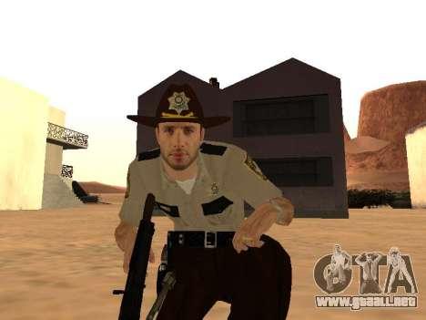 Rick Grimes para GTA San Andreas sucesivamente de pantalla