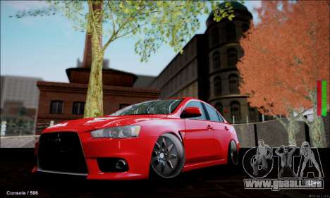 Mitsubishi Lancer Evolution X Stance Work para GTA San Andreas