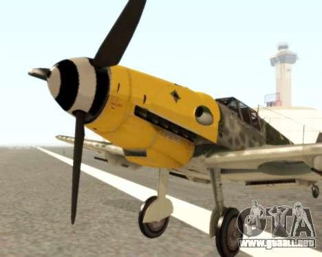 Bf-109 G6 v1.0 para GTA San Andreas left