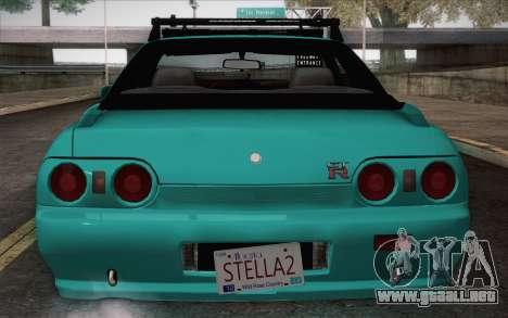 Nissan Skyline R32 Stella para GTA San Andreas vista posterior izquierda