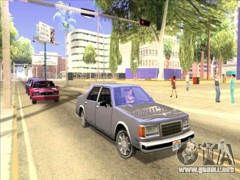 Reflexión única ENB en máquinas para GTA San Andreas tercera pantalla