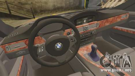 BMW 350i Indonesia Police v2 [ELS] para GTA 4 vista lateral