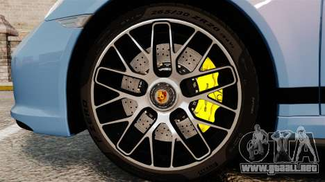 Porsche 911 Turbo 2014 [EPM] KW iSuspension para GTA 4 vista hacia atrás