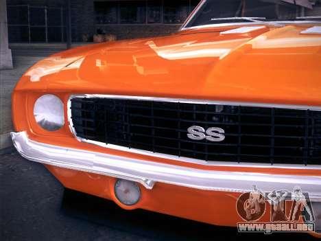 Chevrolet Camaro SS 1969 para la visión correcta GTA San Andreas