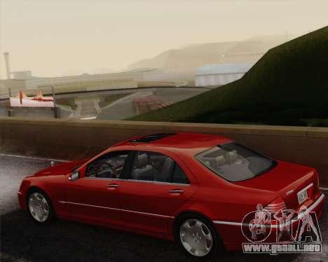 Mercedes-Benz S600 Biturbo 2003 para visión interna GTA San Andreas