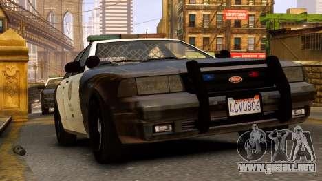 GTA V Police Cruiser para GTA 4 Vista posterior izquierda