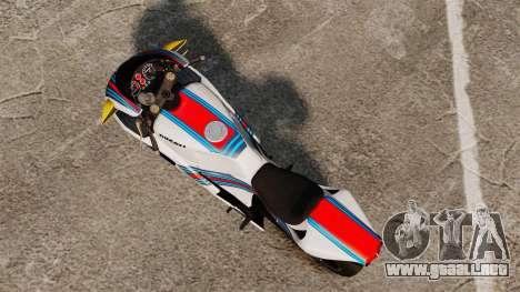 Ducati 848 Martini para GTA 4 Vista posterior izquierda