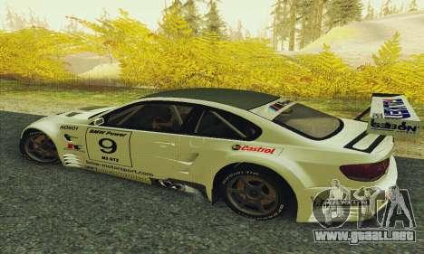 BMW M3 GT2 E92 ALMS para GTA San Andreas left