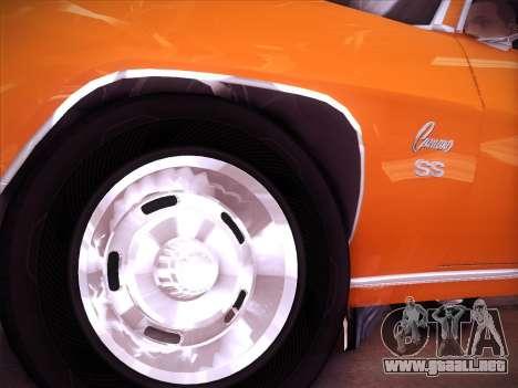 Chevrolet Camaro SS 1969 para GTA San Andreas vista posterior izquierda