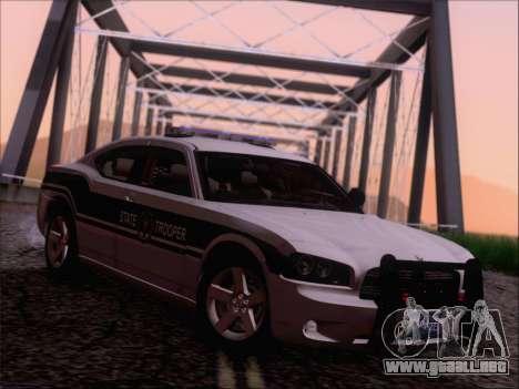 Dodge Charger San Andreas State Trooper para GTA San Andreas vista posterior izquierda