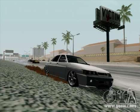 VAZ 2110 v2 para GTA San Andreas vista posterior izquierda