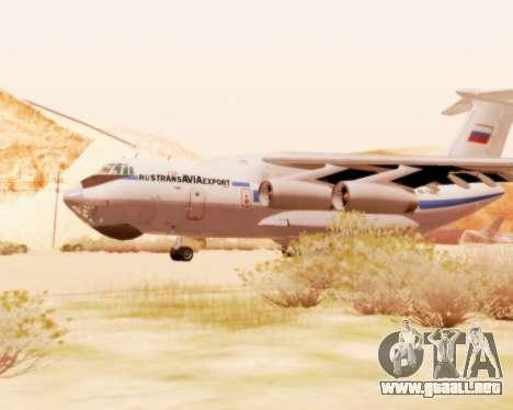 Il-76td v2.0 para GTA San Andreas vista posterior izquierda