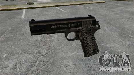 V1 pistola Colt M1911 para GTA 4 tercera pantalla