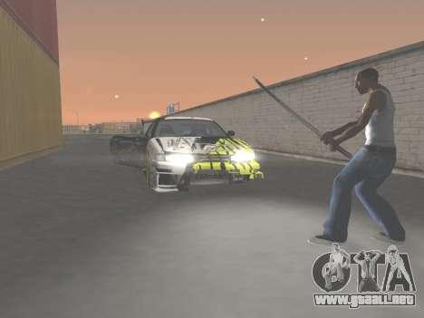 CSO Katana para GTA San Andreas quinta pantalla