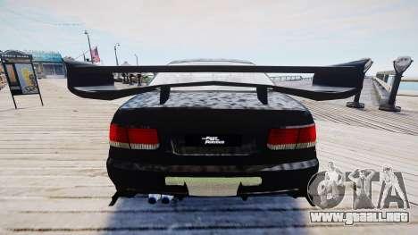 Honda Civic FnF para GTA 4 vista hacia atrás