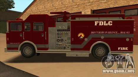 Firetruck HD from GTA 3 para GTA San Andreas left