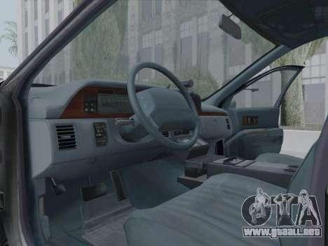 Chevrolet Caprice LAPD 1991 [V2] para visión interna GTA San Andreas