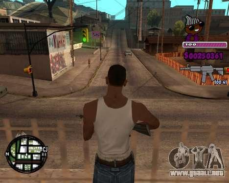 C-HUD for Ballas para GTA San Andreas tercera pantalla