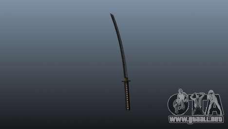 La espada larga japonesa Katana para GTA 4