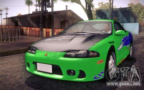 Mitsubishi Eclipse Fast and Furious para vista lateral GTA San Andreas