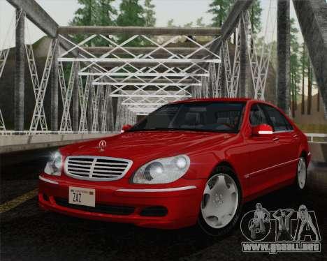 Mercedes-Benz S600 Biturbo 2003 para GTA San Andreas