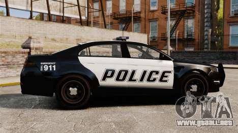 GTA V Vapid Police Interceptor [ELS] para GTA 4 left