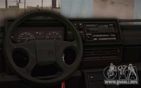 Volkswagen Golf Mk2 GTI para GTA San Andreas vista hacia atrás