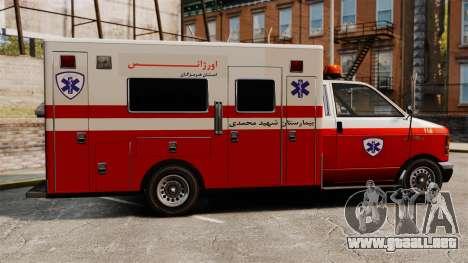 Ambulancia iraní para GTA 4 left
