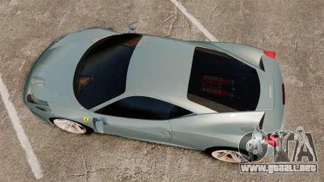 Ferrari 458 Italia 2009 para GTA 4 visión correcta