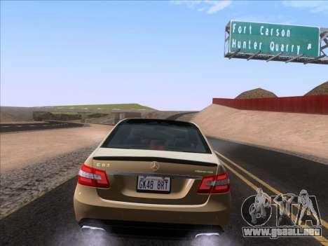 Mercedes-Benz E63 AMG 2011 Special Edition para GTA San Andreas vista hacia atrás