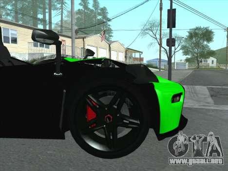 KTM Xbow R para vista lateral GTA San Andreas