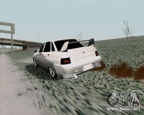 VAZ 2110 v2 para la visión correcta GTA San Andreas