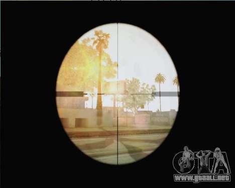 Rifle de francotirador en llamar de Duty MW2 para GTA San Andreas tercera pantalla