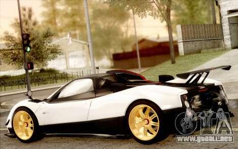 Pagani Zonda Cinque para la vista superior GTA San Andreas