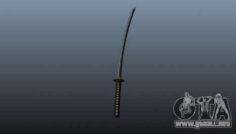 La espada larga japonesa Katana para GTA 4 segundos de pantalla