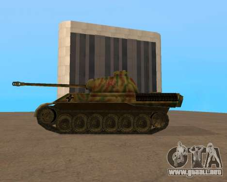 pz.kpfw v Panther para GTA San Andreas vista posterior izquierda
