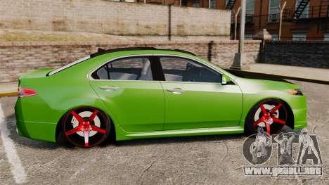 Acura TSX Mugen 2010 para GTA 4 left