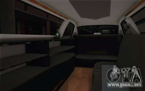 Chrysler 300C Limo 2007 para vista inferior GTA San Andreas