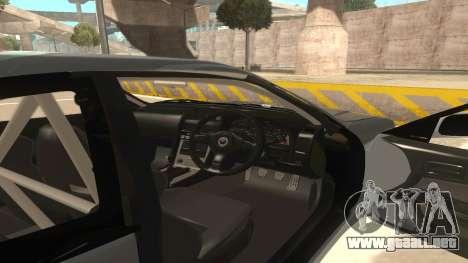 Nissan Skyline R34 para visión interna GTA San Andreas