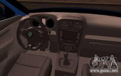 Skoda Octavia RS Kombi 2010 para la visión correcta GTA San Andreas